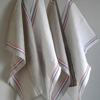 Torchon lin tricolore