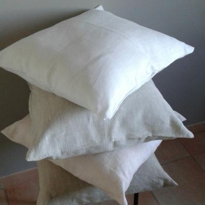 Housse de coussins 45x45 cm lin uni