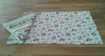 6 serviettes en lin fleuri Centauré