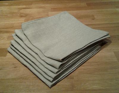 6 serviettes en lin naturel