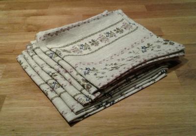 6 serviettes en lin fleuri Luna