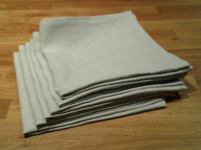 6 serviettes en lin ciel