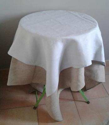 Centre de table en lin ciel