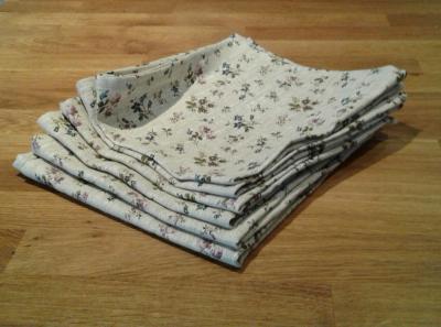 6 serviettes en lin fleuri Fabiana