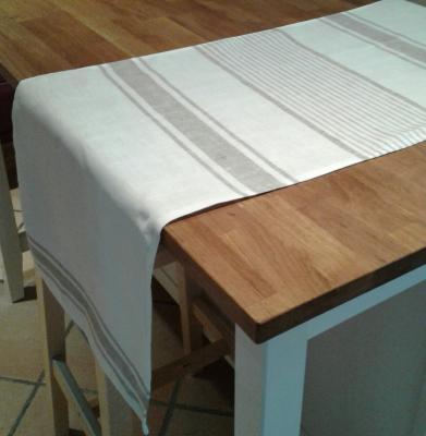Chemin de table en lin lison