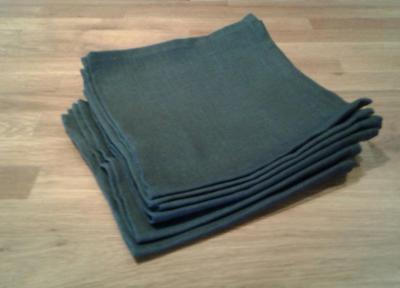 6 serviettes en lin noir