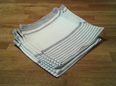 6 serviettes en lin lola