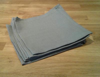 6 serviettes en lin ardoise