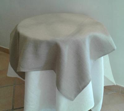 Centre de table en lin naturel
