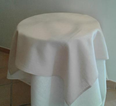 Centre de table en lin rose poudrée