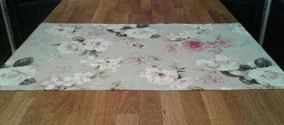 Chemin de table en lin lavé blanca