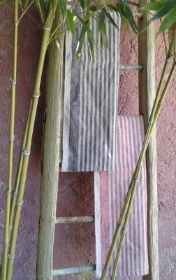 Torchon lin bicolore
