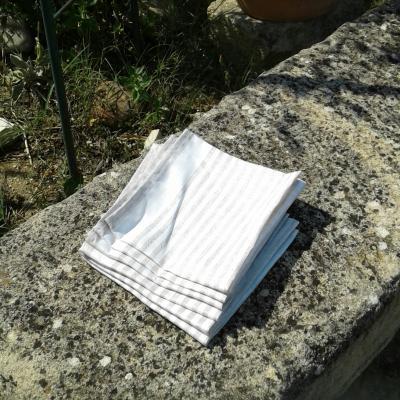 6 serviettes en lin sara