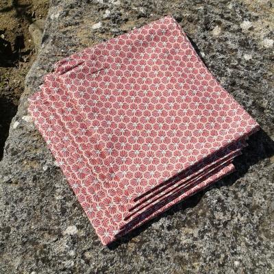 Lot de 6 serviettes rosa