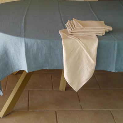 6 Serviettes de table lin lavé Bouleau