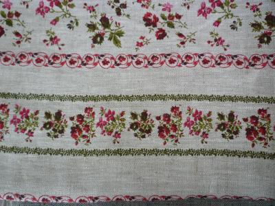 Chemin de table en lin fleuri Brome