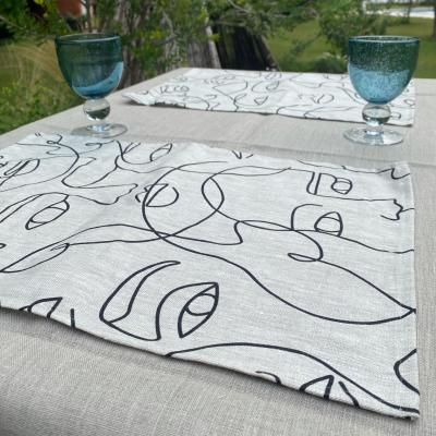 6 sets de table en lin Picasso